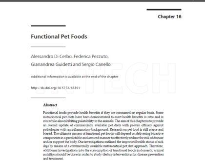 Исследование об эффективности функционального питания для домашних животных