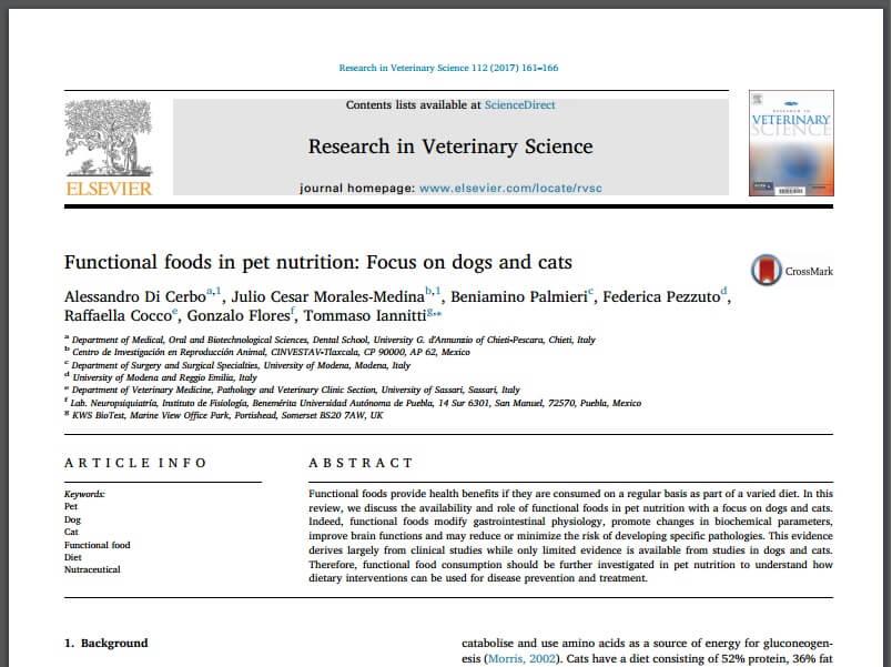 Функциональные пищевые продукты для животных
