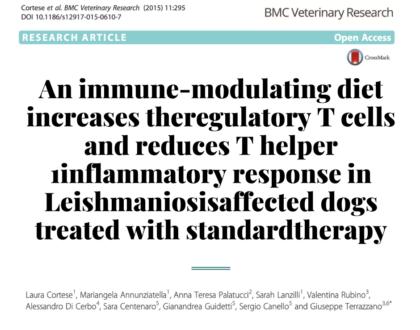 Исследование терапии лейшмании с кормом Fjrza10 DEFENSE ACTIVE