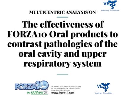 Мультицентровое  исследование эффективности корма FORZA10 ORAL ACTIVE, при заболеваниях ротовой полости и верхних дыхательных путей