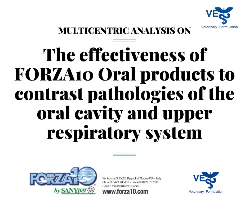 Многофокусное исследование эффективности корма FORZA10 ORAL ACTIVE, при заболеваниях ротовой полости и верхних дыхательных путей