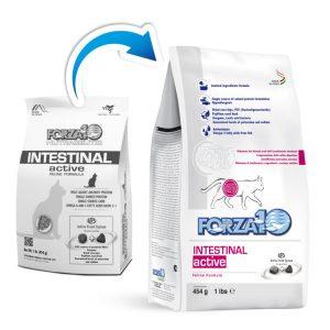 Active Intestinal для кошек старый и новый мешок
