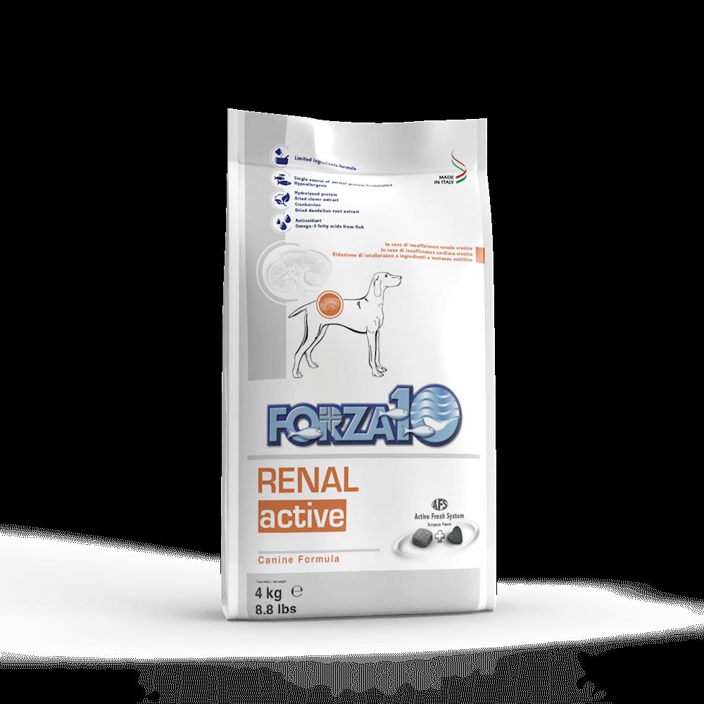 FORZA10 RENAL ACTIVE ветеринарный корм для собак для поддержания функции почек и сердечно-сосудистой системы.