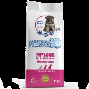 Корм для щенков средних и крупных пород Forza10 PUPPY JUNIOR MAINTENANCE M-L из рыбы