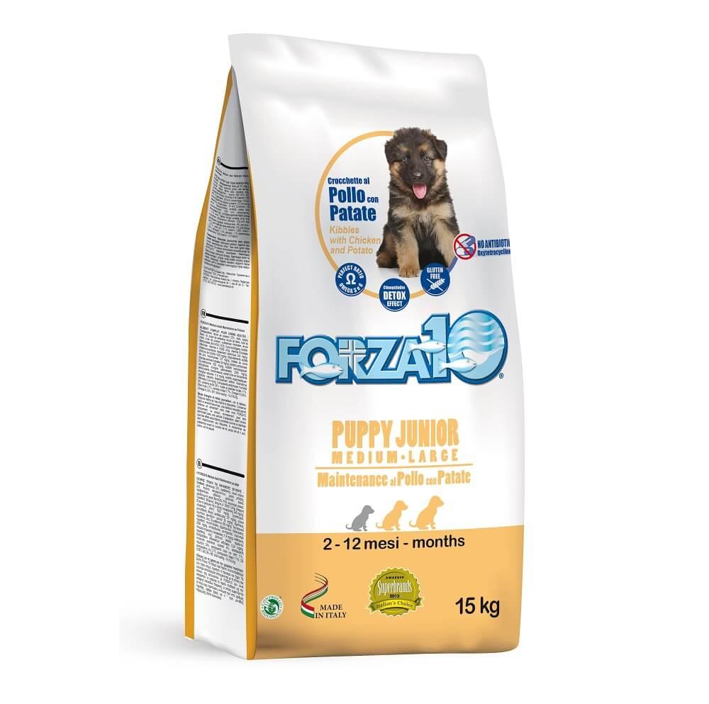 Сухой корм для щенков Forza 10 Puppy Junior Maintenance c курицей и картофелем для средних и крупных пород. Мешок 15 кг.