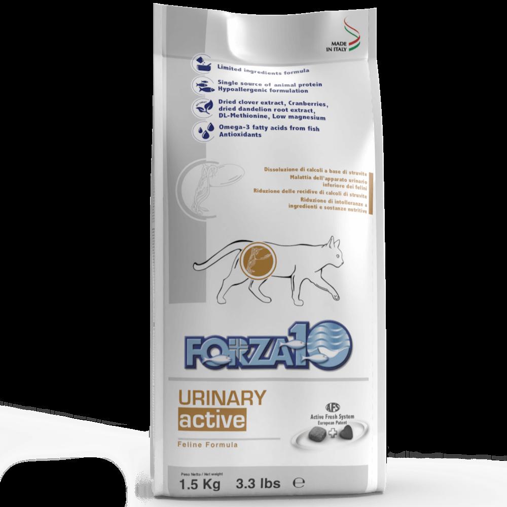 Корм для кошек Forza10 URINARY ACTIVE ветеринарный корм для кошек при боязнях мочевых путей