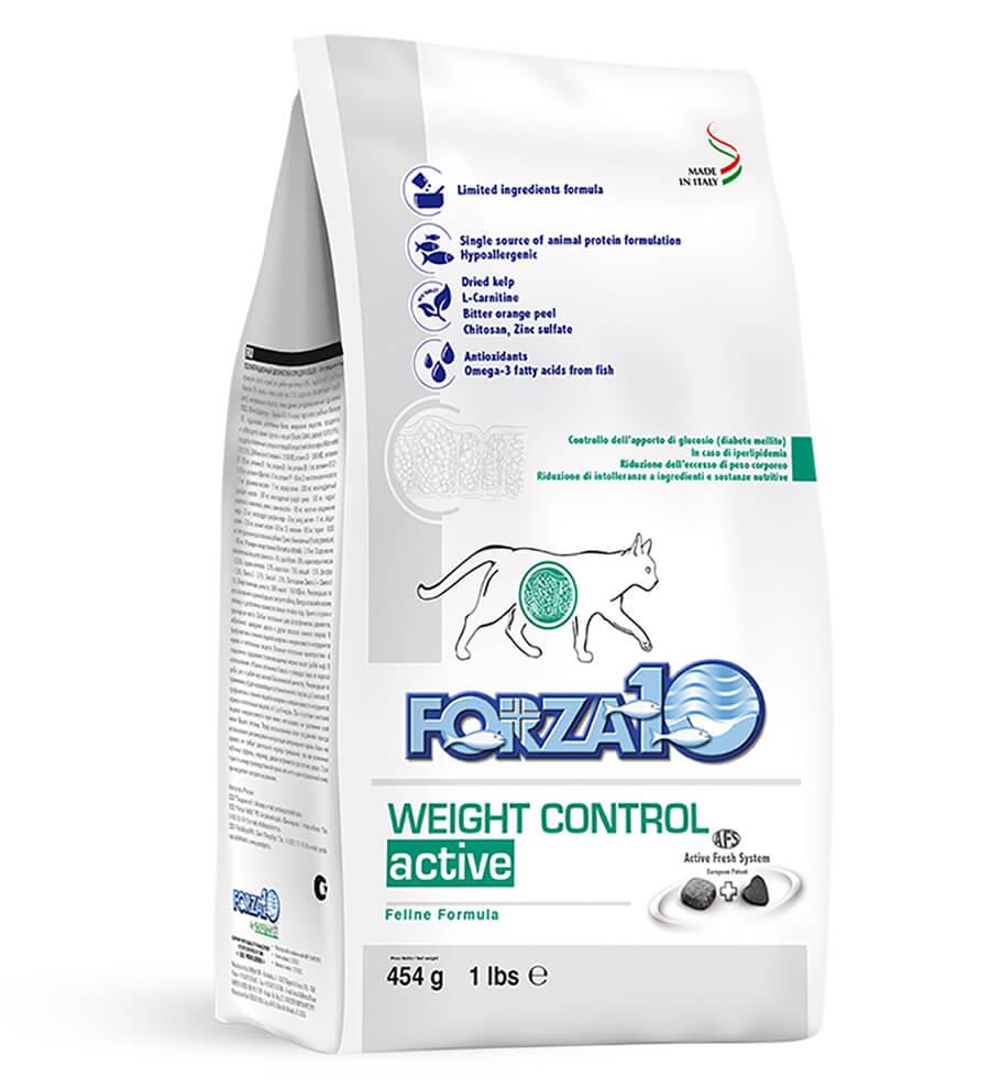 FORZA 10 WEIGHT CONTROL для взрослых кошек с нарушением обмена веществ (сахарный диабет) и склонных к ожирению.