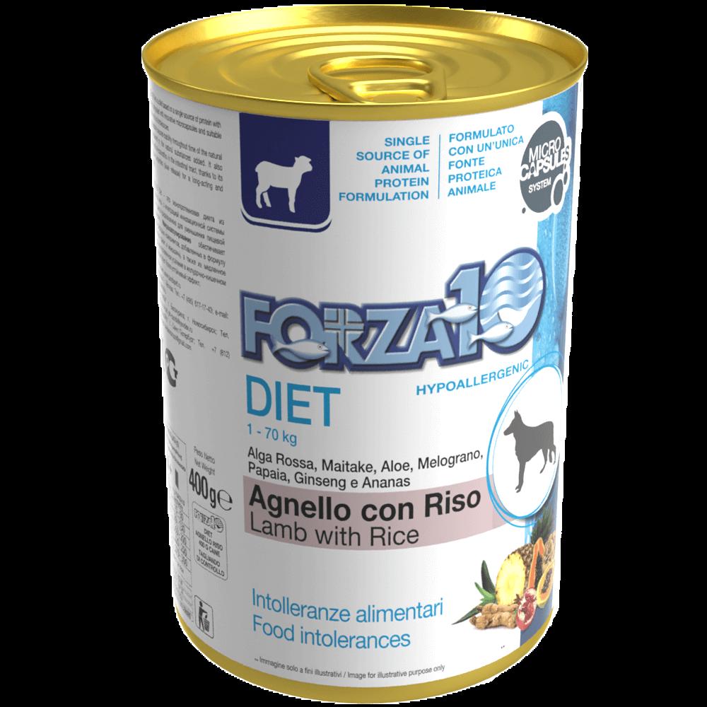 Гипоаллергенный влажный корм для собак Forza10 DIET Agnello con Riso