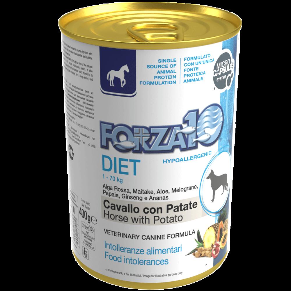 Гипоаллергенный влажный корм для собак Forza10 DIET CAVALLO con PATATE