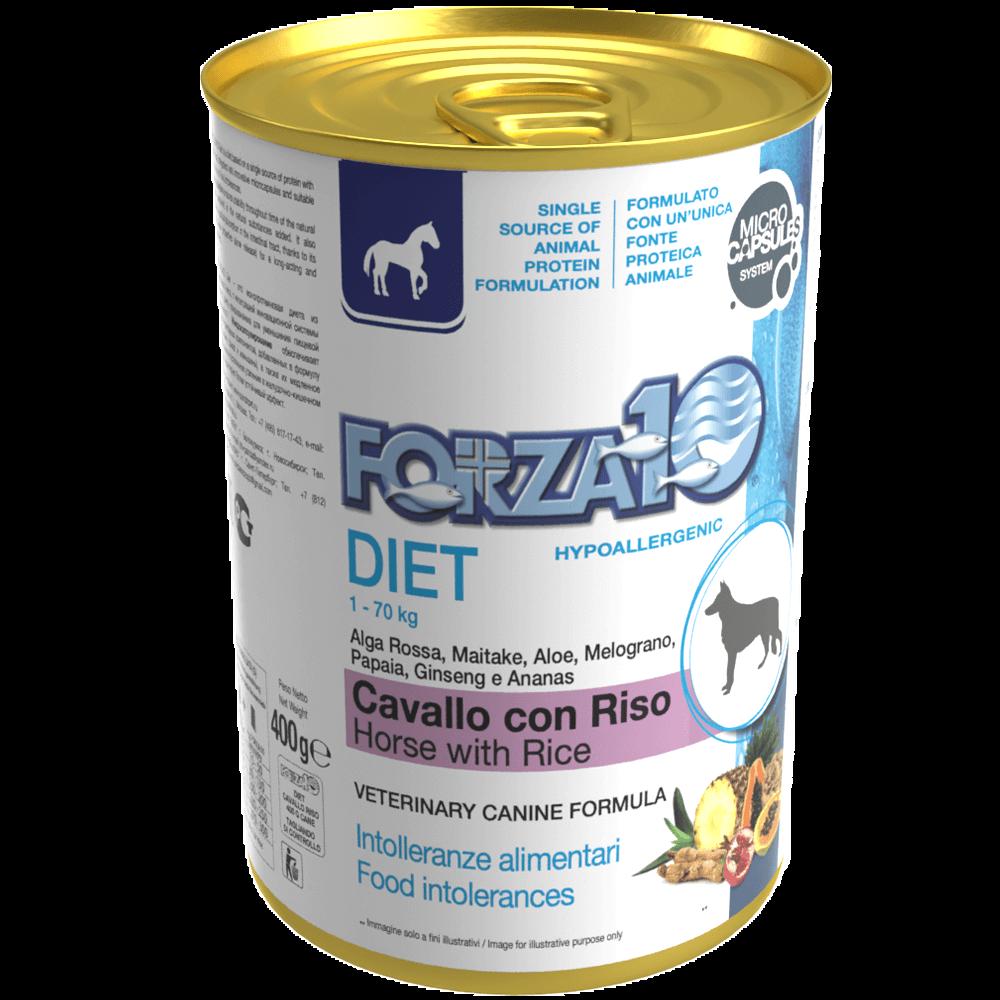 Гипоаллергенный влажный корм для собак Forza10 DIET CAVALLO con RISO