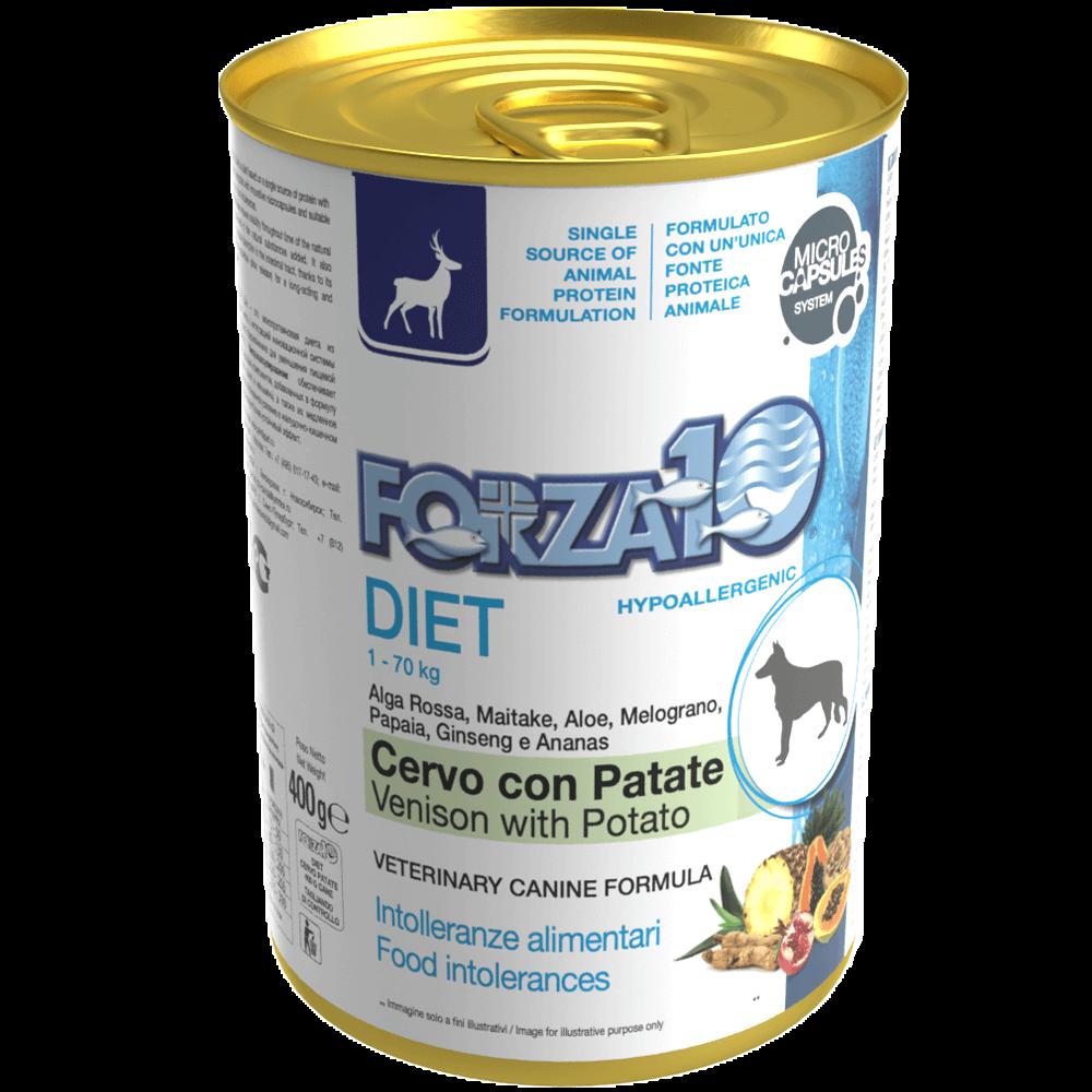Гипоаллергенный влажный корм для собак Forza10 DIET CERVO con PATATE