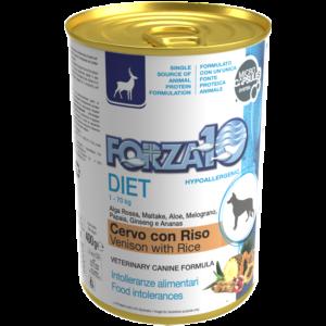 Гипоаллергенный влажный корм для собак Forza10 DIET CERVO con RISO