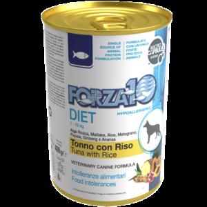 Гипоаллергенный влажный корм для собак Forza10 DIET TONNO con RISO